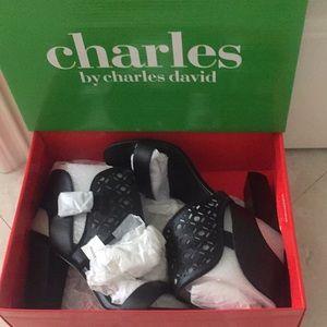 Black heels sandals